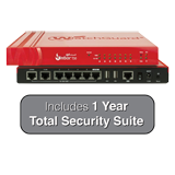 WatchGuard Firebox T50 and 1-Year Total Security Suite - 1.2 Gbps Firewall, 270 Mbps VPN, 165 Mbps UTM