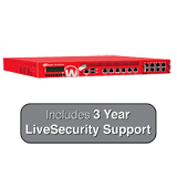 WatchGuard XTM 1525-RP and 3-Year LiveSecurity (12x5 Support Contract) - 25 Gbps Firewall, 10 Gbps VPN, 6.7 Gbps UTM, 6 GbE