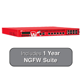 WatchGuard XTM 1525-RP and 1-Year NGFW Bundle - 25 Gbps Firewall, 10 Gbps VPN, 6.7 Gbps UTM, 6 GbE