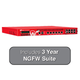 WatchGuard XTM 1525-RP and 3-Year NGFW Bundle - 25 Gbps Firewall, 10 Gbps VPN, 6.7 Gbps UTM, 6 GbE