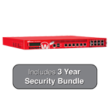 WatchGuard XTM 1525-RP and 3-Year Security Bundle - 25 Gbps Firewall, 10 Gbps VPN, 6.7 Gbps UTM, 6 GbE