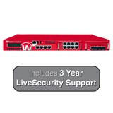WatchGuard XTM 2520 with 3 Years LiveSecurity (12x5 Support Contract) - 35 Gbps Firewall, 10 Gbps VPN, up to 10 Gbps UTM, 12 GbE