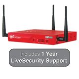 WatchGuard XTM 26W with 1 Years LiveSecurity (12x5 Support Contract) - 540Mbps Firewall, 60Mbps VPN, 70Mbps UTM; 5x 1GbE Ports