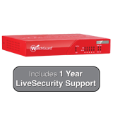 WatchGuard XTM 26 with 1 Year LiveSecurity (12x5 Support Contract) - 540Mbps Firewall, 60Mbps VPN, 70Mbps UTM; 5x 1GbE Ports