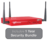 WatchGuard XTM 33W with 1 Year Security Bundle - 850Mbps Firewall, 100Mbps VPN, 100Mbps UTM; 5x 1GbE Ports