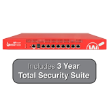 WatchGuard Firebox M200 UTM Firewall with 3-Year Total Security Suite - 3.2Gbps Firewall, 1.2Gbps VPN, 515Mbps UTM