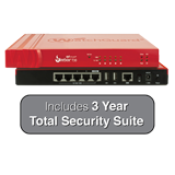 WatchGuard Firebox T30 with 3-Year Total Security Suite - 620 Mbps Firewall, 150 Mbps VPN, 135 Mbps UTM