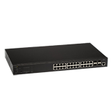 Aerohive SR2224P 24 Port Gigabit Ethernet Switch with POE+, 4 x GE SFP uplinks, 180W POE budget, Layer 2, Static routing