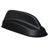 Cradlepoint 5 in 1 Sharkfin – Low Profile Sharkfin 5 in 1 Antenna, MiMo 2G/3G/4G LTE, MiMo 2.4/5GHz Wi-Fi, GPS/GNSS, 5m/16 Cable