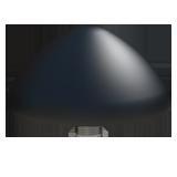 Cradlepoint 2x Wi-Fi Internal, Black – Internal Wi-Fi Dome Antenna, MiMo 2.4/5Ghz Wi-Fi, 5m/16 Cables