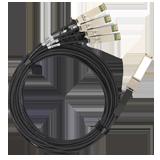 Extreme 100Gb, DAC QSFP28–4xSFP28 1m
