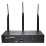 SonicWALL TZ400W Wireless UTM Firewall with Secure Upgrade Plus for 3 Years - 802.11ac, 4x800MHz cores, 7x1GbE interfaces