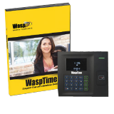 Wasp Barcode WaspTime RFID Pro Edition - RFID Time and Attendance System with RF200 RFID Employee Time Clock