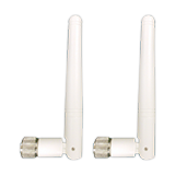 Ruckus Wireless AT-0303-VP01, Indoor Antenna for 7372-E, Elbow-Joint, Dual-Band 2.4/5 GHz, 2/3dBi, RP-SMA, Pair