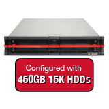 Nexsan E18V 8.1TB (18x 450GB 15K HDD) Storage Array, Dual Controller, 18 Bay, 2U, 4GB Cache, 4x 10GbE (SFP+) & 4x 1GbE iSCSI