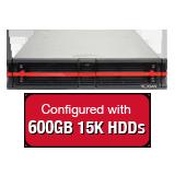 Nexsan E18V 5.4TB (9x 600GB 15K HDD) Storage Array, Dual Controller, 18 Bay, 2U, 4GB Cache, 4x 8Gb FC & 4x 1GbE iSCSI