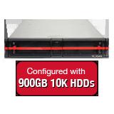 Nexsan E18V 8.1TB (9x 900GB 10K HDD) Storage Array, Dual Controller, 18 Bay, 2U, 4GB Cache, 4x 10GbE (SFP+) & 4x 1GbE iSCSI