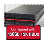 Nexsan E48VT 7.2TB (16x 450GB 15K HDD) Storage Array, Dual Controller, 48 Bay, 4U, 4GB Cache, 4x 8Gb FC & 4x 1GbE iSCSI