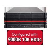 Nexsan E60VT 18TB (20x 900GB 10K HDD) Storage Array, Dual Controller, 60 Bay,4U, 16GB Cache, 4x 8Gb FC & 4x 1GbE iSCSI