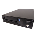 Quantum LTO-6 Tape Drive, Half Height, Tabletop, Model C, Media and SAS HBA Bundle, 6Gb/s SAS, Black