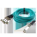 Extreme 100Gb AOC QSFP28 x 4 SFP28 5m