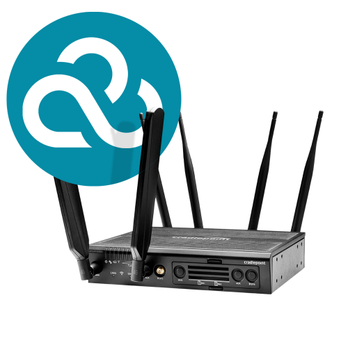 Cradlepoint AER2200 router with WiFi (1200Mbps modem) and NetCloud Branch Essentials Plan