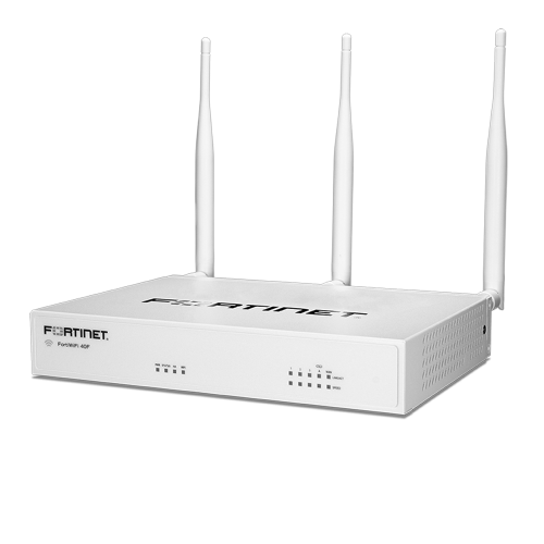 Fortinet FortiWifi-40F / FWF-40F Hardware plus 24×7 FortiCare and FortiGuard Unified Threat Protection (UTP) – FWF-40F-BDL-950