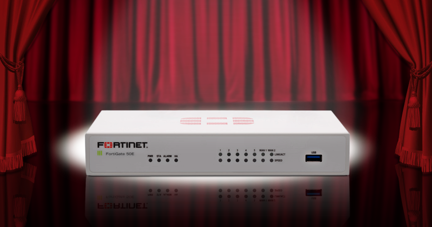 Picture of the FortiGate 50E firewall