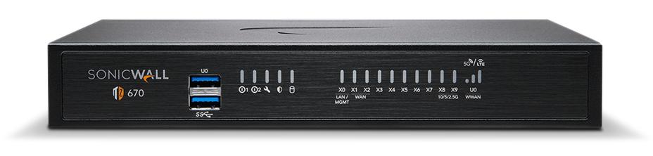 SonicWALL TZ670 firewall